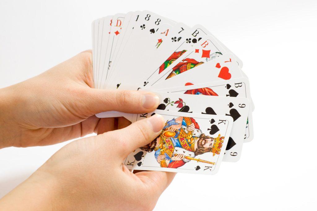 Kartenspiel schwimmen